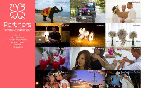 Screenshot of Services Page partners-samui.com - Services - Partners Wedding Planners on Koh Samui, Thailand - captured Sept. 29, 2014