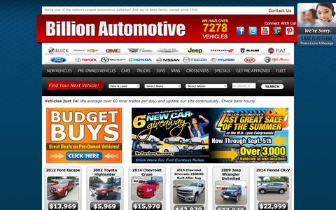 New and Used Cars | Billion Auto