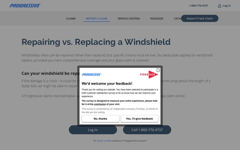Repairing vs. Replacing a Windshield