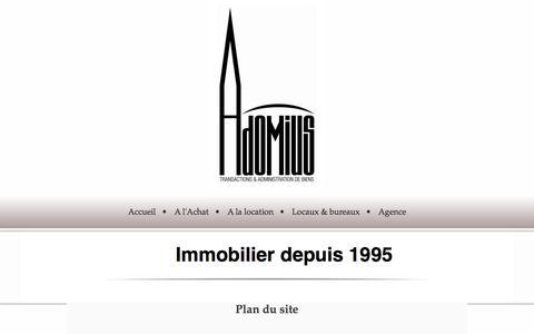 Screenshot of Site Map Page adomius.eu - Bienvenue à Adomius Immobilier Strasbourg - captured Sept. 30, 2014