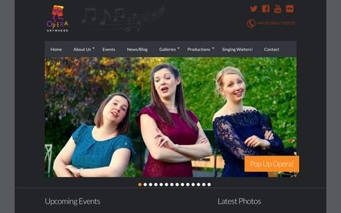 Screenshot of Press Page operaanywhere.com - Opera Anywhere - Performing unique versions of Operas in interesting locations - captured Aug. 12, 2015