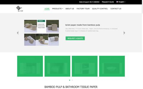 Screenshot of Home Page lexuan-group.com - Quality bamboo pulp & bathroom tissue paper Manufacturer - captured Nov. 18, 2016