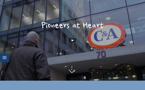 Screenshot of Jobs Page c-and-a.com - C&A Career | Pioneers at heart - captured May 8, 2019