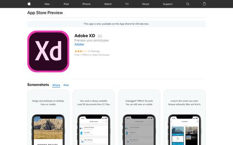 Adobe XD on the AppStore