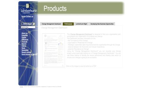 Screenshot of Products Page lamberhurst.com - Service products-The Lamberhurst Corporation - captured Oct. 6, 2014