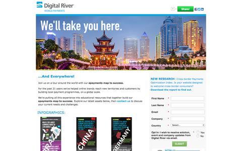 Screenshot of Landing Page digitalriver.com - Global Online Payment Resources from Digital River - captured March 2, 2018