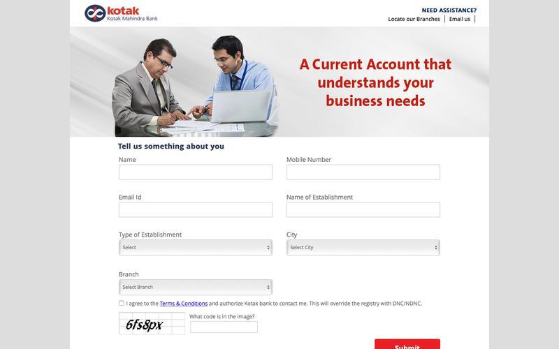 Kotak - Online Account Opening Form