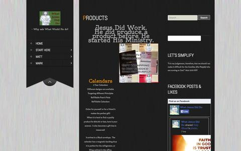 Screenshot of Products Page whatjesusdiddo.com - Products | The Christ Has Done It - captured Sept. 30, 2014