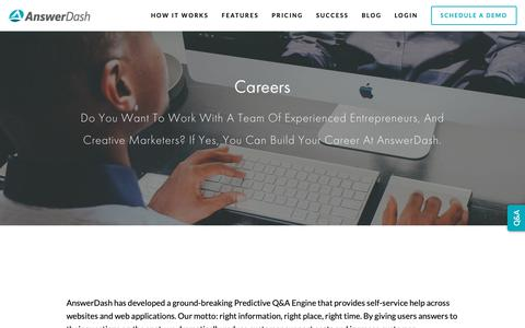 Screenshot of Jobs Page answerdash.com - Find Out the Best Career Opportunities at Answerdash — - captured Feb. 14, 2019