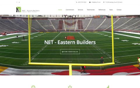 Screenshot of Home Page ebturf.com - NET � Eastern Builders SportsTurf - captured Jan. 14, 2016