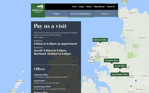 Screenshot of Contact Page killarneyhomes.com.au - Contact Us | Killarney Homes - captured June 9, 2017