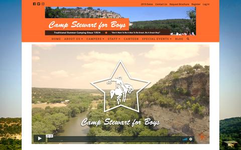 Screenshot of About Page campstewart.com - What is Stewart? — Camp Stewart for Boys - captured Dec. 14, 2018