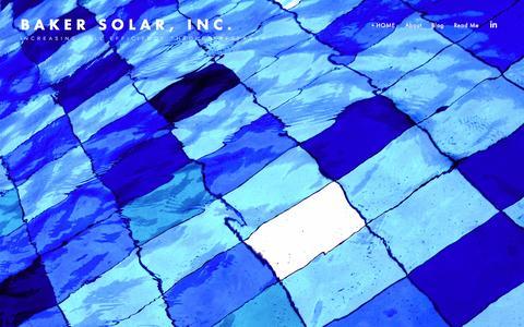 Screenshot of Home Page bakersolarinc.com - Baker Solar, Inc. - captured Sept. 10, 2015