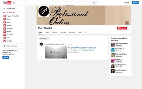Screenshot of YouTube Page youtube.com - Pom Shopltd  - YouTube - captured Oct. 22, 2014
