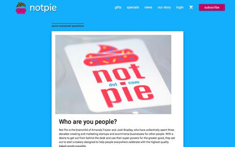 Screenshot of About Page notpie.com - The story of an online cupcake shop   NotPie Cakery - captured June 14, 2017