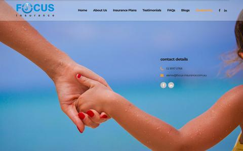 Screenshot of Contact Page focus-insurance.com.au - Contact Us – Focus Insurance Brokers Sydney – Licensed Insurance broker since year 2000 - captured Oct. 10, 2018