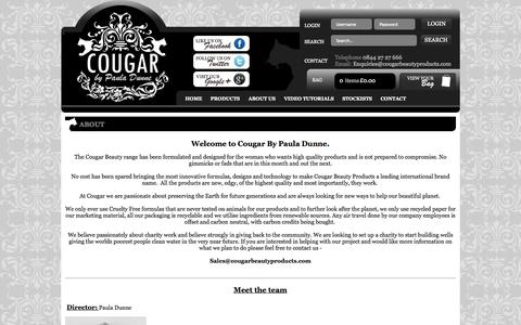 Screenshot of About Page cougarbeautyproducts.com - Cougar Beauty Products About Us - captured Nov. 2, 2014