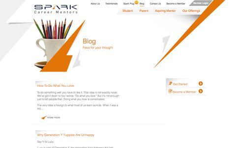 Screenshot of Blog sparkcareermentors.com - Blog | sparkcareermentors.com - captured Oct. 7, 2014