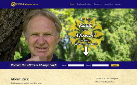 Screenshot of Home Page positivepresence.net - F.W. Rick Meyers   Transforming Transitions - captured Oct. 6, 2014