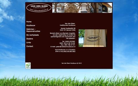 Screenshot of Contact Page vdelsenhoutbouw.nl - Van Den Elsen Houtbouw - captured Oct. 7, 2014