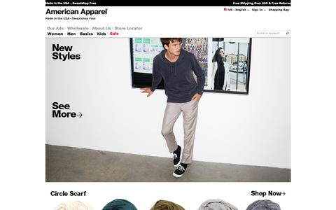 Designed, Cut and Sewn in Los Angeles | American Apparel
