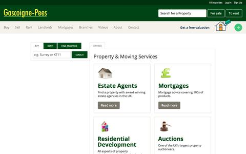 Screenshot of Services Page gpees.co.uk - View our range of services available from home insurance to mortgages plus much more - captured Sept. 27, 2018
