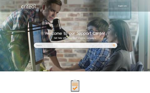 Screenshot of Support Page criteo.com - Criteo Accelerate - captured May 15, 2018