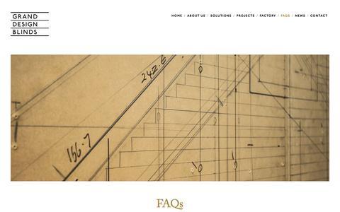 Screenshot of FAQ Page granddesignblinds.com - FAQs — Grand Design Blinds - captured Nov. 5, 2018
