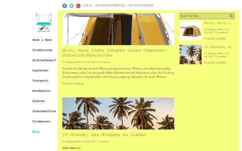 Screenshot of Blog trimmtisch.de - Trimmtisch.de, camptown.de, Hundezüchterbedarf - captured June 27, 2018