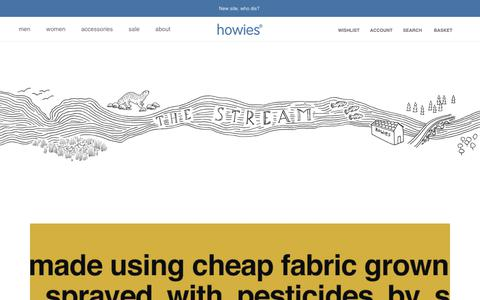 Screenshot of Press Page howies.co.uk - News – howies - captured March 29, 2019