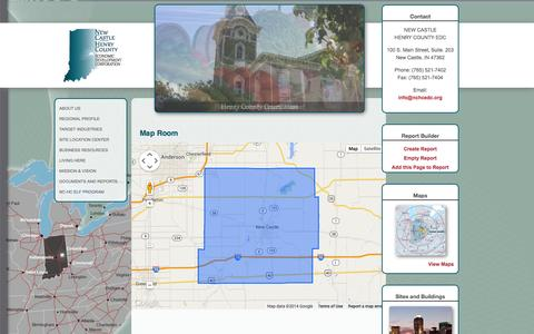 Screenshot of Maps & Directions Page nchcedc.org - Newcastle Henry County   Map Room - captured Oct. 6, 2014