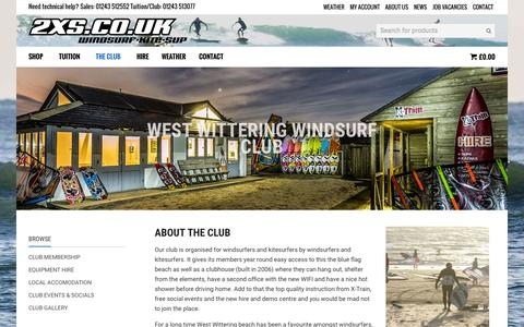 Screenshot of Signup Page 2xs.co.uk - WEST WITTERING WINDSURF CLUB - 2XS - captured Nov. 5, 2015