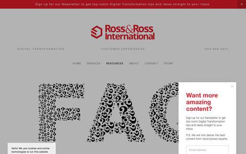 Screenshot of FAQ Page rossross.com - FAQs — Ross & Ross International - captured Feb. 17, 2019
