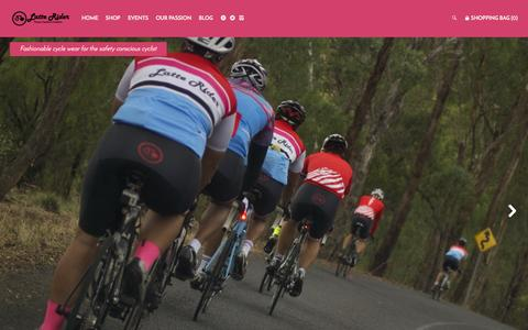 Screenshot of Home Page latterider.com - Fashionable cycle wear for safety conscious cyclists. – Latte Rider - captured July 19, 2015