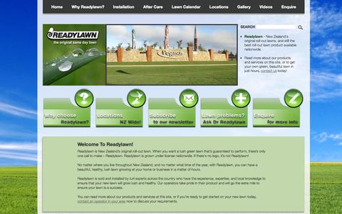 Screenshot of Home Page readylawn.co.nz - Readylawn - Roll Out Lawn, Instant Lawn Turf, Ready Lawn - captured Jan. 26, 2015