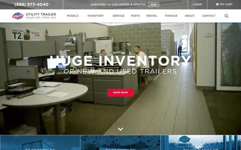 Screenshot of Home Page utility-trailer.com - Utility Trailer | New & Used Trailers | Financing & Rentals Available - captured Dec. 21, 2016