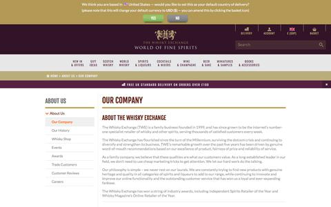 Screenshot of About Page thewhiskyexchange.com - The Whisky Exchange : Online Whisky Shop - Buy Single Malt Scotch Whisky, Whiskies of the World, Rare Whisky : The Whisky Exchange - captured June 23, 2017