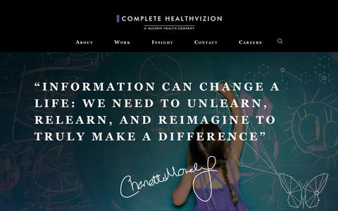 Screenshot of Home Page complete-hv.com - Complete HealthVizion - a global medical communications agency - captured Aug. 19, 2017