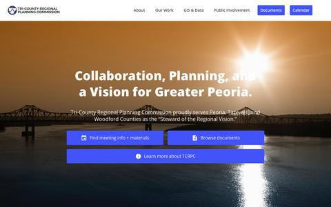 Screenshot of Home Page tricountyrpc.org - Home - TCRPC | Tri County Regional Planning Commission - captured Oct. 20, 2018
