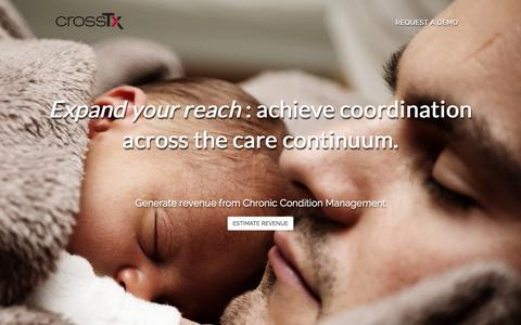 Screenshot of Home Page crosstx.com - CrossTx referral management, chronic condition management - captured Dec. 4, 2015