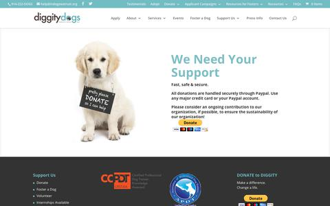 Screenshot of Home Page indogswetrust.org - Diggity Dogs Service Dogs Inc. |  In Dogs We Trust  |  Service Dogs & Service Dog Support Services - captured Oct. 8, 2018