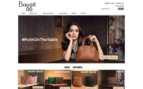 Screenshot of baggit.com - Handbags Online India, Buy Online Handbags, Buy Bags Online, Ladies Bags, Online Bags - captured Oct. 5, 2018