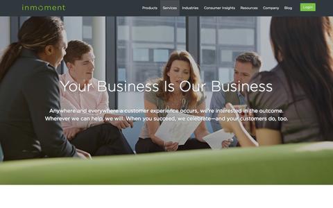 Screenshot of Support Page inmoment.com - Customer Feedback Management Design, Setup & Advisement - captured Oct. 10, 2014