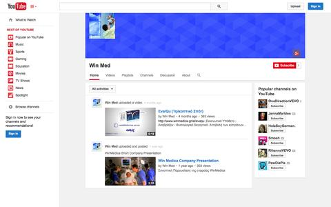 Screenshot of YouTube Page youtube.com - Win Med  - YouTube - captured Oct. 25, 2014