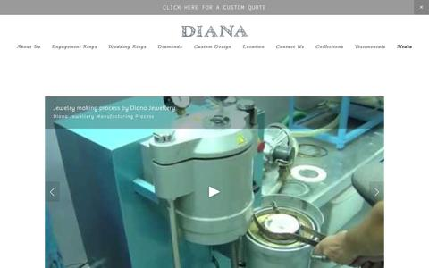 Screenshot of Press Page dianajewellery.com - Media — Customised Jewellery Designs in Dubai - captured Aug. 1, 2016