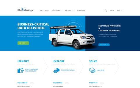 Screenshot of Home Page Contact Page calamp.com - CalAmp - captured July 17, 2014