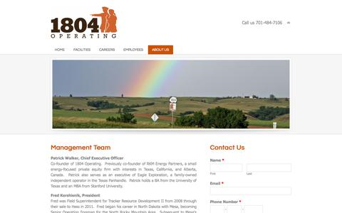 Screenshot of About Page 1804operating.com - 1804 Operating | About Us - 1804 Operating - captured Oct. 9, 2014