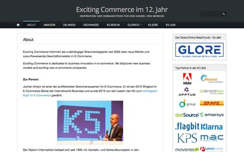 Screenshot of About Page excitingcommerce.de - About – Exciting Commerce im 12. Jahr - captured July 17, 2016