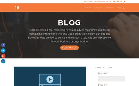 Digital Marketing & Social Media News | Blog | Hurrdat