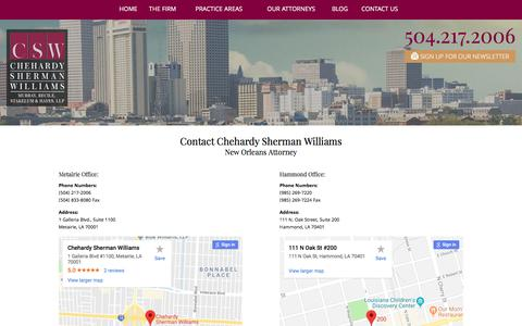 Screenshot of Contact Page chehardy.com - Contact Us | Chehardy Sherman Williams - captured Sept. 24, 2018